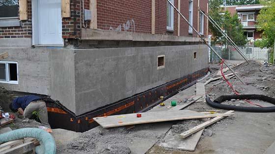 Réparation de fondation à Montréal
